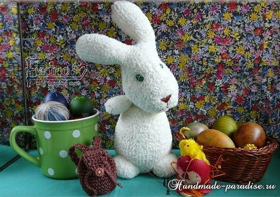 Пасхальные кролики из махровых носков (3)