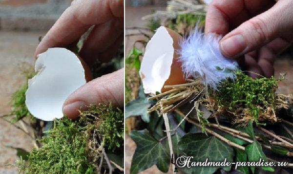 Пасхальный венок из природных материалов (7)