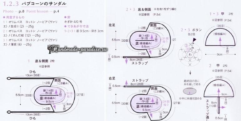 Пинетки - туфельки крючком для малыша (2)