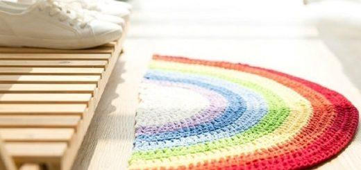Прикроватный коврик крючком. Схема