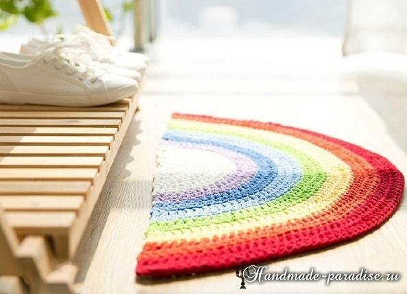 Прикроватный коврик крючком. Схема (3)