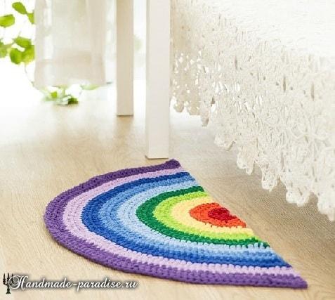 Прикроватный коврик крючком. Схема (4)