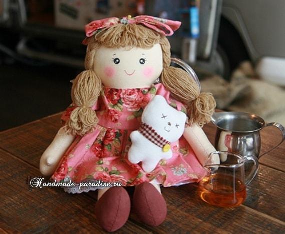 Текстильная кукла примитив своими руками (10)