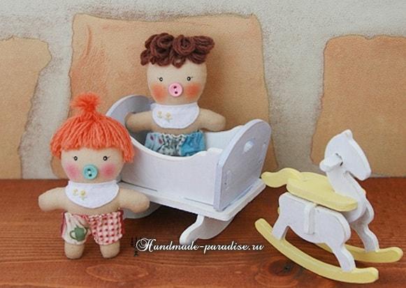 Текстильная кукла примитив своими руками (11)