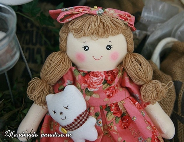 Текстильная кукла примитив своими руками (13)