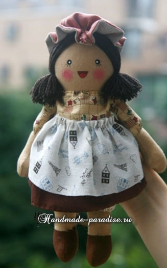 Текстильная кукла примитив своими руками (14)