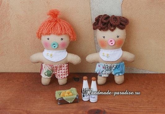 Текстильная кукла примитив своими руками (15)