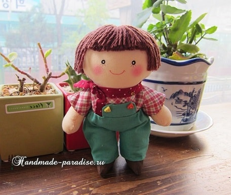 Текстильная кукла примитив своими руками (17)