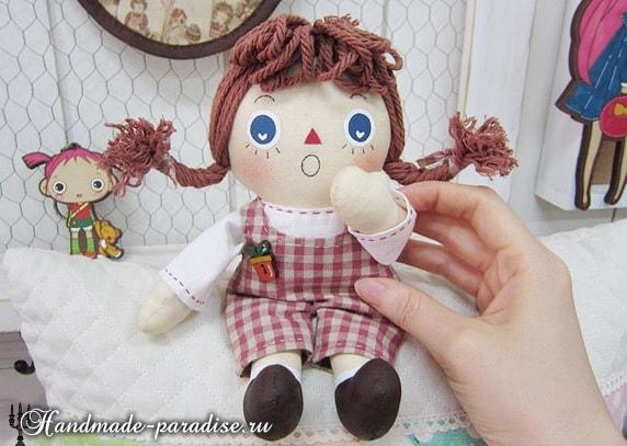 Текстильная кукла примитив своими руками (18)
