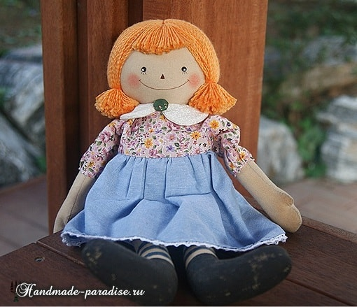 Текстильная кукла примитив своими руками (19)