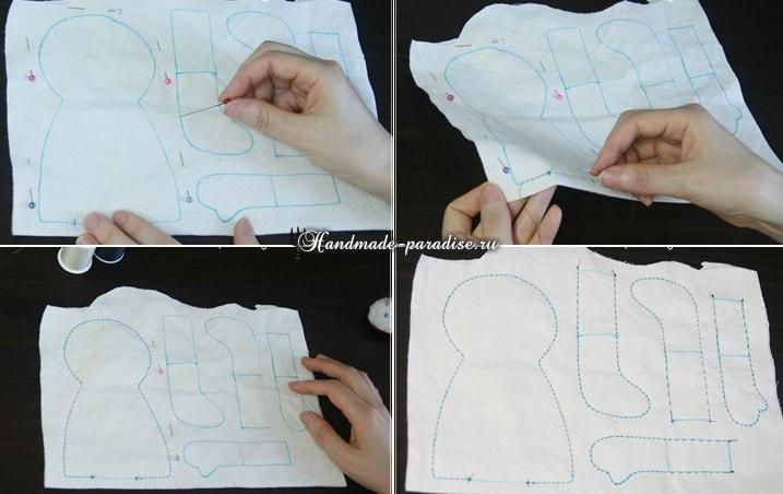 Текстильная кукла примитив своими руками (2)