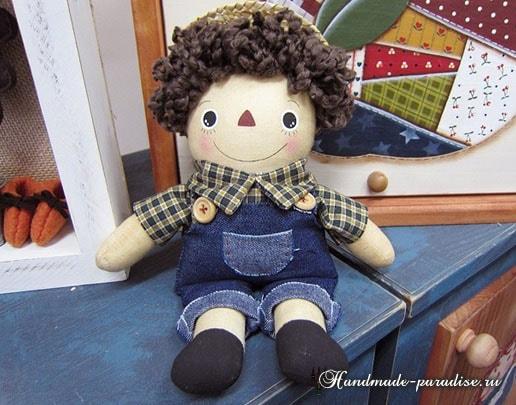 Текстильная кукла примитив своими руками (20)