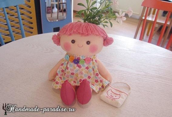 Текстильная кукла примитив своими руками (21)