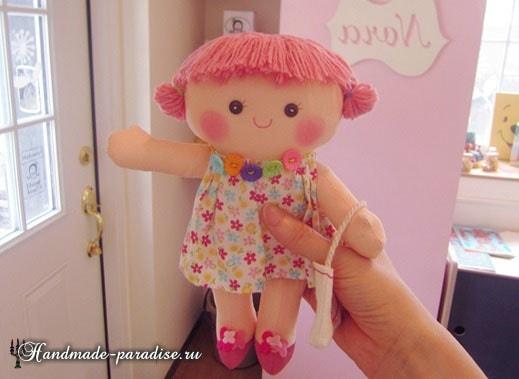 Текстильная кукла примитив своими руками (22)