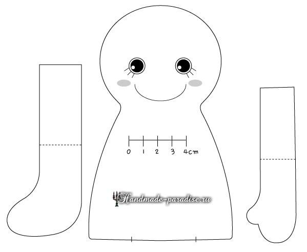 Текстильная кукла примитив своими руками (23)