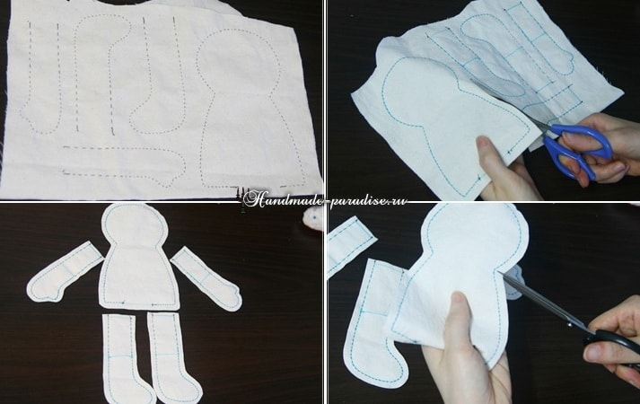 Текстильная кукла примитив своими руками (3)