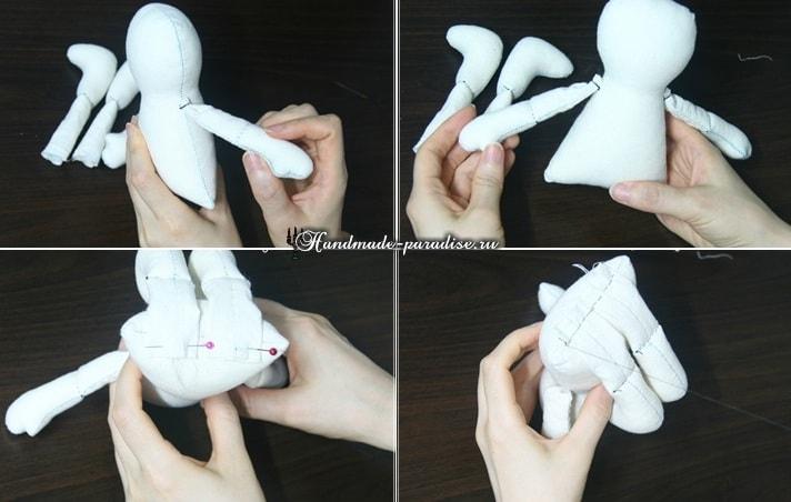 Текстильная кукла примитив своими руками (8)