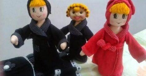 Текстильная кукла в банном халате. Выкрйка