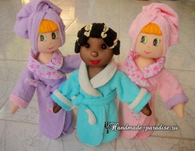 Текстильная кукла в банном халате. Выкрйка (2)
