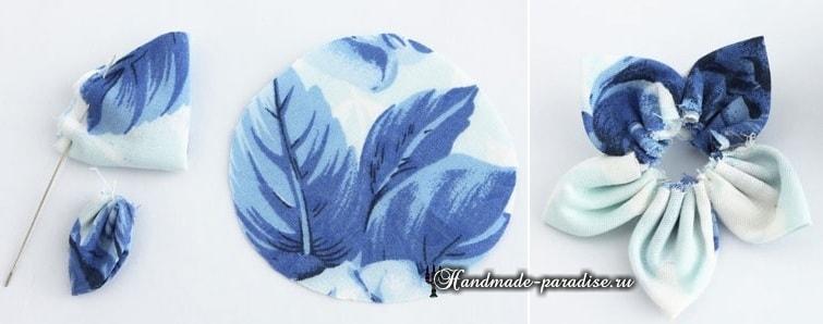 Текстильные бусы с цветами своими руками (13)