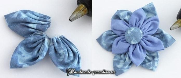 Текстильные бусы с цветами своими руками (6)