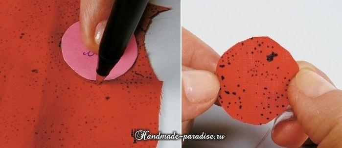 Текстильные бусы с цветами своими руками (7)