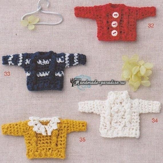Вязаная мода для кукол амигуруми. Схемы (10)