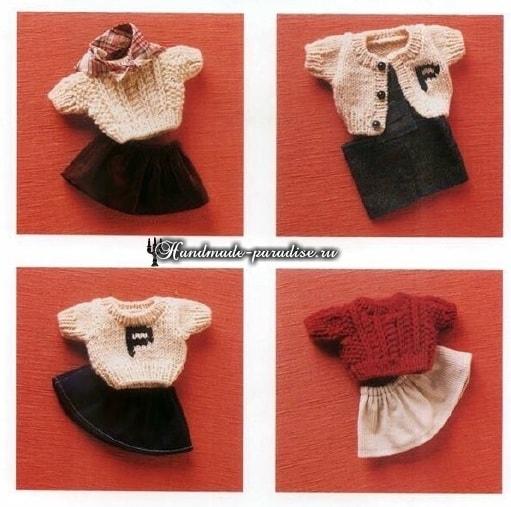 Вязаная мода для кукол амигуруми. Схемы (5)