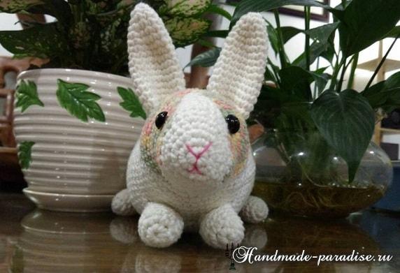 Вязание игрушки - КРОЛИКА крючком (3)