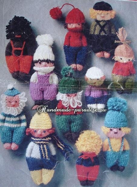 Вязание спицами куколки примитива (2)