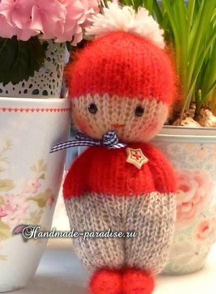 Вязание спицами куколки примитива (6)