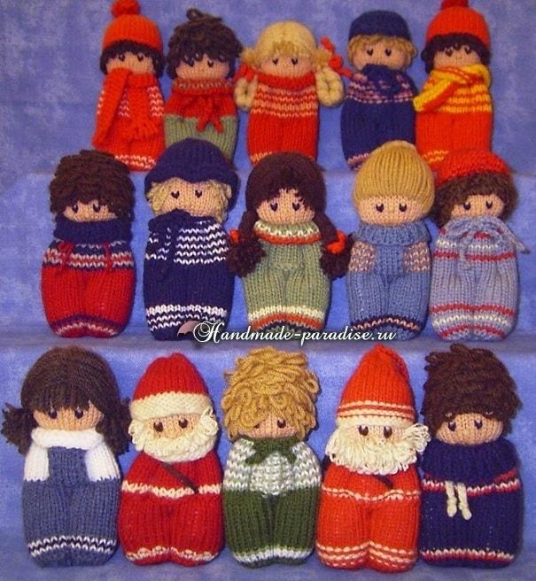 Вязание спицами куколки примитива (7)