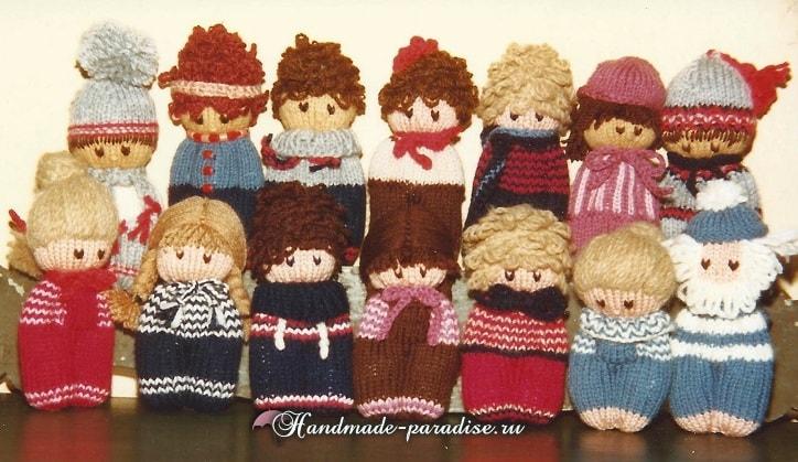 Вязание спицами куколки примитива (8)