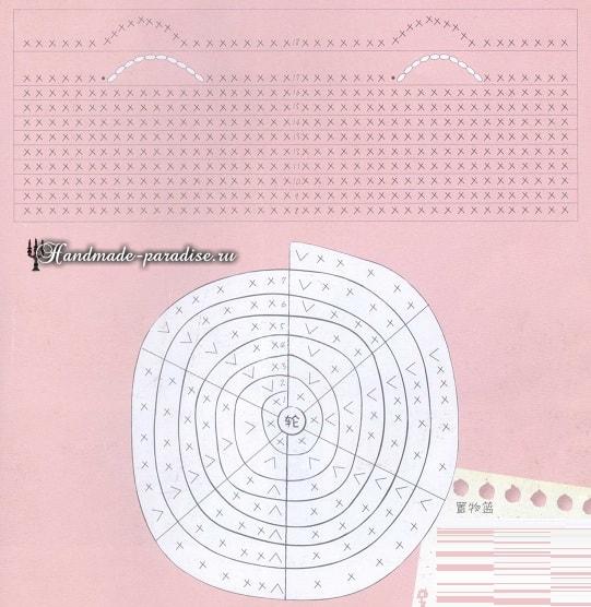 Корзинки крючком. Схемы вязания (10)