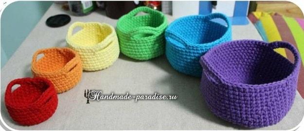 Корзинки крючком. Схемы вязания (8)