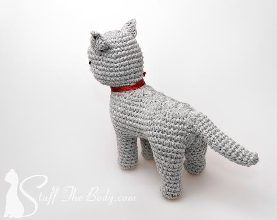 Кошка амигуруми. Описание вязания крючком (2)
