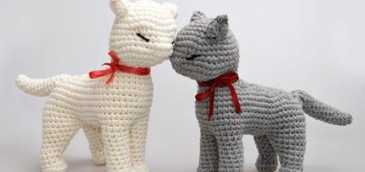 Кошка амигуруми. Описание вязания крючком