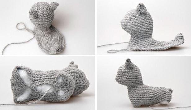 Вязание для кошек с крючком с описанием 88
