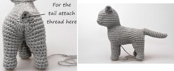 Кошка амигуруми. Описание вязания крючком (9)