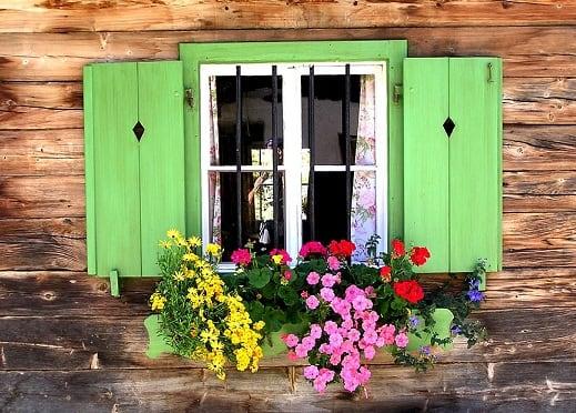 Красим деревянные окна в дачном домике (3)
