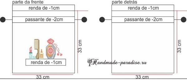 Мешочек для косметики с вышивкой. Схема (2)