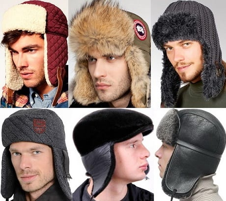 С чем носить мужские шапки-ушанки (2)
