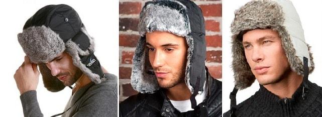 С чем носить мужские шапки-ушанки