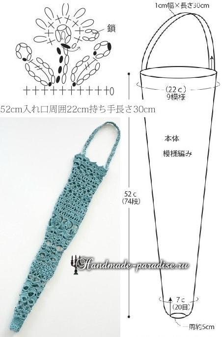 Вяжем крючком чехол для зонта - трости