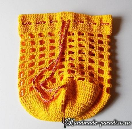 Вяжем крючком мешочек. Схема (2)