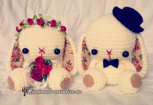 Жених и невеста. Кролики амигуруми (3)