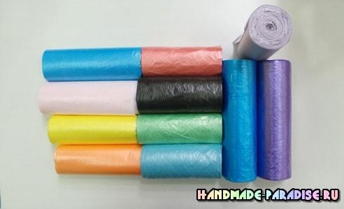 Цветы из полиэтиленовых пакетов. Мастер-класс (10)