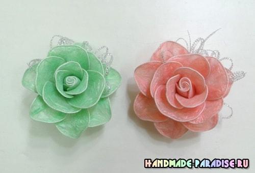 Цветы из полиэтиленовых пакетов. Мастер-класс (4)