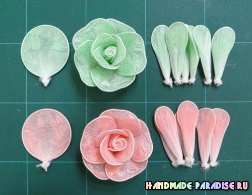 Цветы из полиэтиленовых пакетов (8)