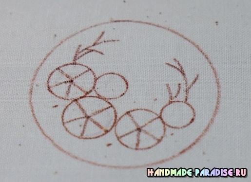 Броши с вышивкой лентами своими руками (6)